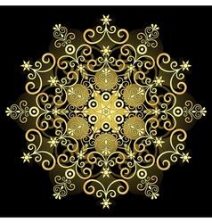 gold vintage snowflake vector image