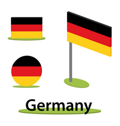 isometric flag germany vector image