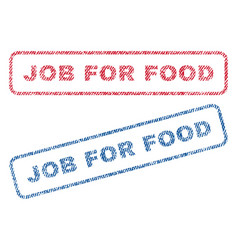 job for food textile stamps vector image