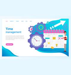 landing page time management web site vector image