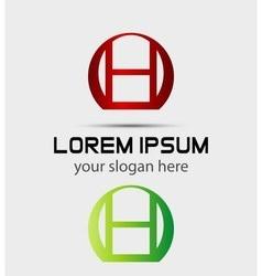 Letter h logo creative concept icon vector