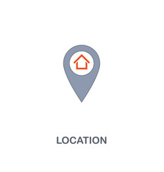 location icon premium two colors style design vector image