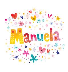 Manuela girls name vector