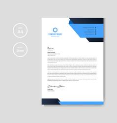 Modern blue letterhead vector