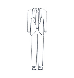 Monochrome blurred silhouette of male formal suit vector