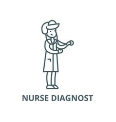 nurse diagnost line icon linear concept vector image