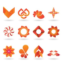 Orange Logo set vector image