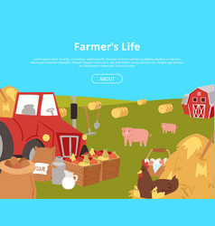 organic farming and agribusiness banners vector image