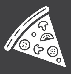pizza slice glyph icon food and drink fast food vector image