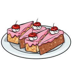 Plate of cakes vector