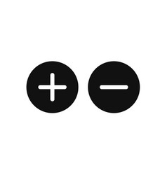 plus and minus icon in modern design style for vector image