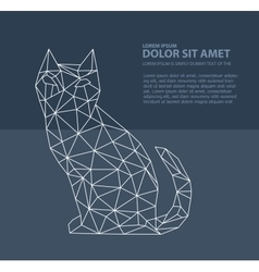 Print polygonal cat vector