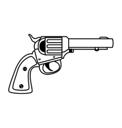 Revolver weapon handgun vector