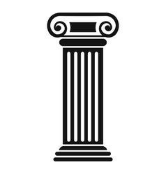 Roman column icon simple style vector image