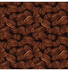 Seamless background with coffee beans vector