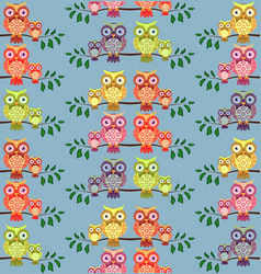 seamless pattern on theme family and vector image