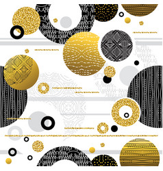 seamless pattern with golden and black glittering vector image