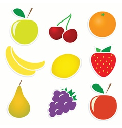 Set of 9 sticky fruitss vector