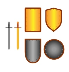 Set of signs shield and sword 1805 vector