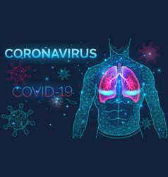 sick human lungs respiratory diseases pneumonia vector image