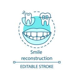 smile reconstruction concept icon vector image