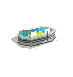 stadium building outdoor sports venue for vector image
