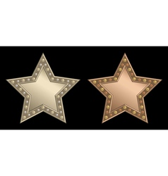 Star plaque vector
