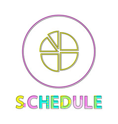 Statistical schedule isolated on white background vector