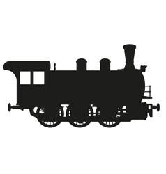 steam locomotive vector image