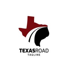Texas road logo design vector