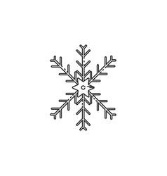 Thin line snow flakes icon vector