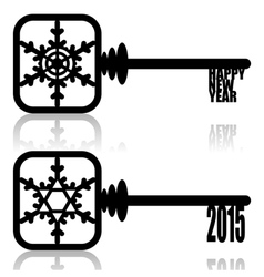 Unlock New Year vector image