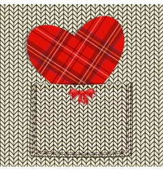 Valentines knit background vector