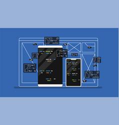 web development programming vector image