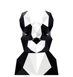 With origami french bulldog vector
