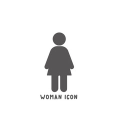 woman icon simple flat style vector image