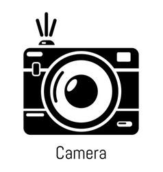 camera icon simple black style vector image