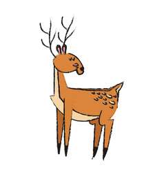 deer animal icon vector image vector image