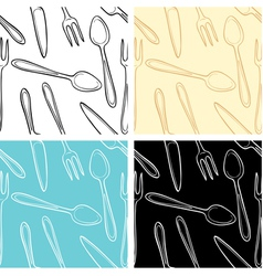 dishes pattern vector image