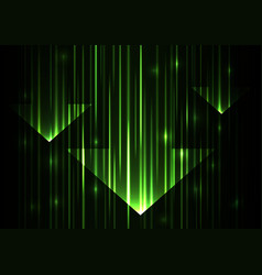 green arrow abstract technology background vector image