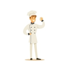 Man Professional Cooking Chef Working In vector image vector image