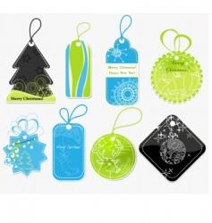 stylish christmas price tags vector image vector image
