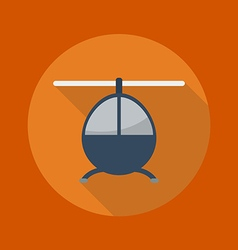 Transportation Flat Icon Helicopter vector image vector image
