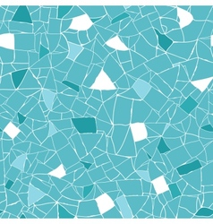 Blue and white mosaic texture seamless pattern vector image vector image