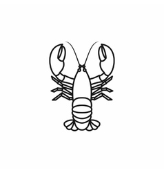 Crayfish icon outline style vector image