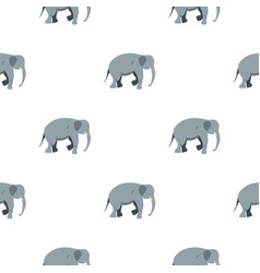 elephant pattern seamless vector image vector image