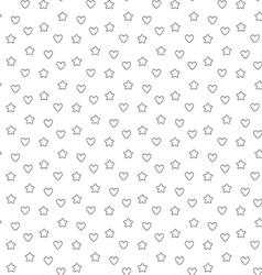 Favorite stars and hearts seamless pattern vector image