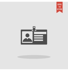 Identification card icon Flat design style vector image