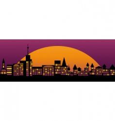 nightly city vector image vector image