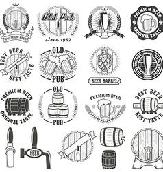 Set of beer labels badges and design elements vector image vector image